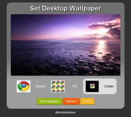 Set Desktop Wallpaper from Google Chrome