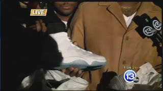 Man Licks His New Jordans During Local News Report On Shoe Release