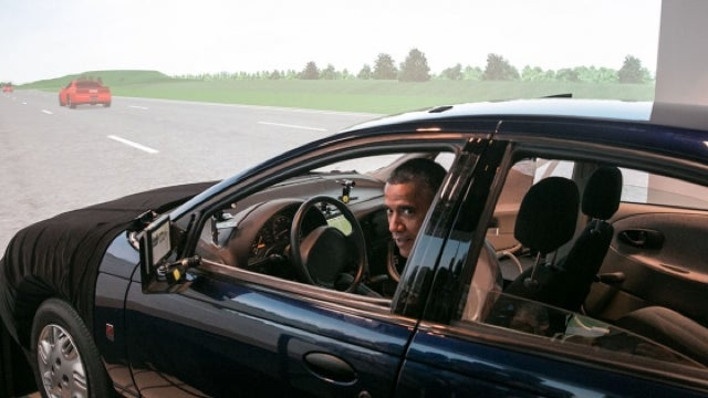 ​Let's Caption This Amazing Photo Of President Obama In A Saturn