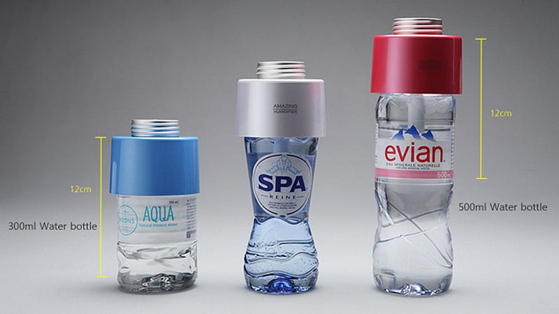 This Replacement Cap That Turns Any Water Bottle Into a Humidifier