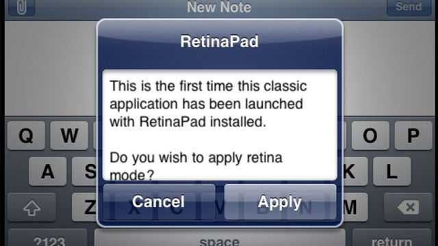 RetinaPad Improves the Quality of Screen-Doubled iPhone Apps on Your Jailbroken iPad