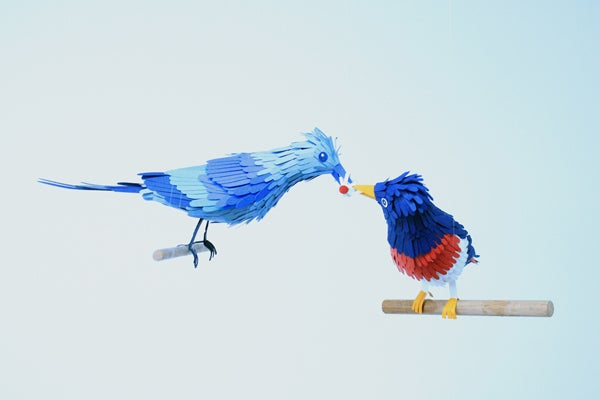 These lovely paper birds will make you feel at peace with the world