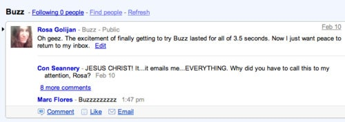 Google Buzz Turns Less Creepy After Some Improvements