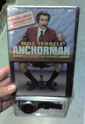 Weird Combo of the Day: Anchorman DVD, Cheap Watch