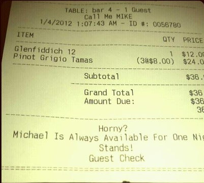 The Horny Waiter and Other Racist, Insulting, and Bizarre Fast Food Receipts
