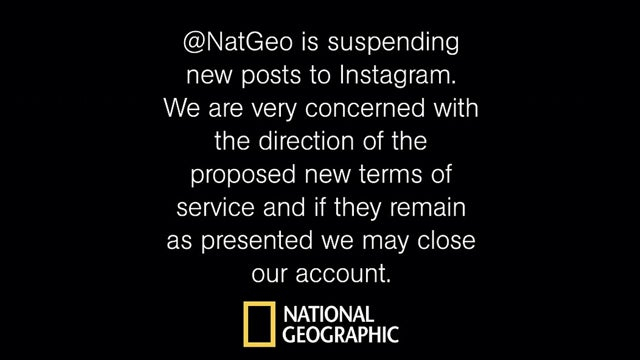National Geographic Is Suspending Posts on Instagram Because of Instagram's New Icky Terms of Service
