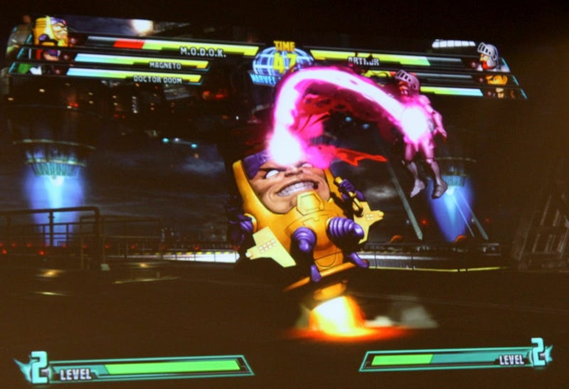 Magneto and M.O.D.O.K. Tearing It Up In Marvel Vs. Capcom 3