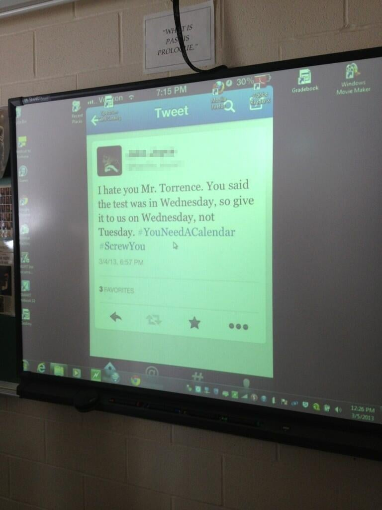 Student Who Badmouthed Teacher on Twitter Learns an Invaluable Lesson: Teachers Use Twitter Too