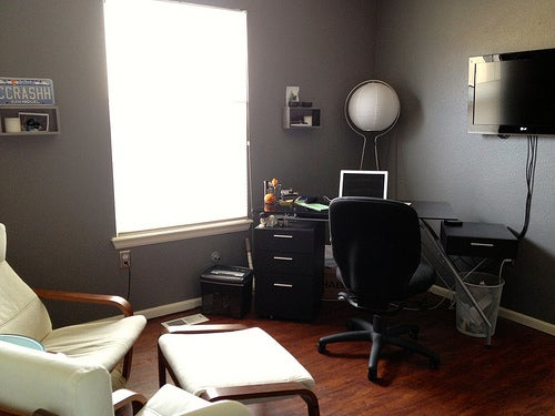 Gray, Black, and White: The Former Closet Workspace