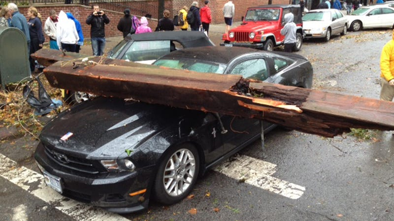 A Mustang Floats Down 20th St.