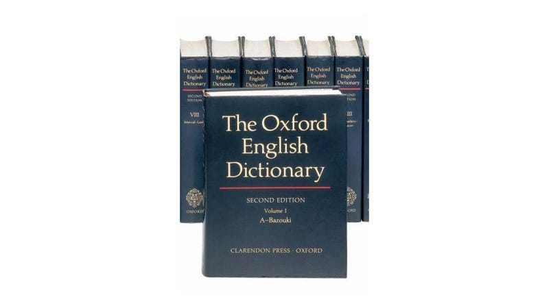 I Really Want a Giant Unabridged English Dictionary and I Don't Care