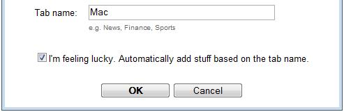 Add keyword-based tabs to Google homepage