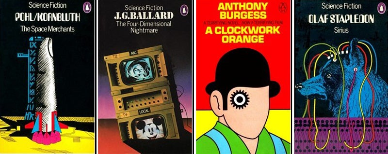 Classic Science Fiction Book Covers from Penguin, Through the Ages
