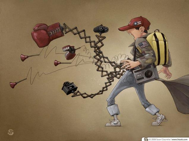 Art: Goonies' Data In Full Gadget Attack Mode