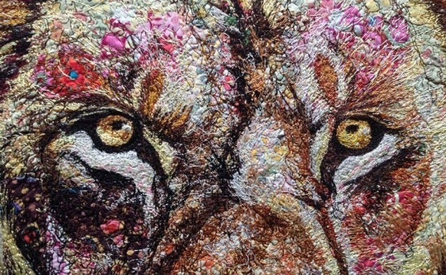 Animals Made From Unbelievably Intricate Fabric Collages