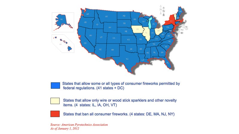 The Fireworks Laws of Every State