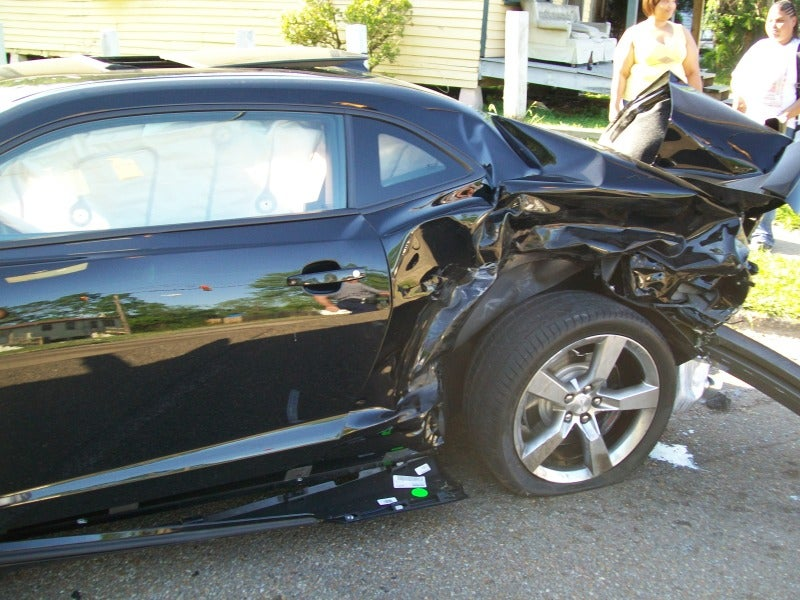 This Is What A Totaled Camaro SS Looks Like