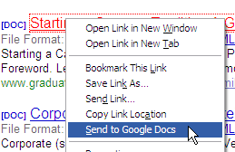 Send to Google Docs Opens Any Linked Document Directly in Google Docs