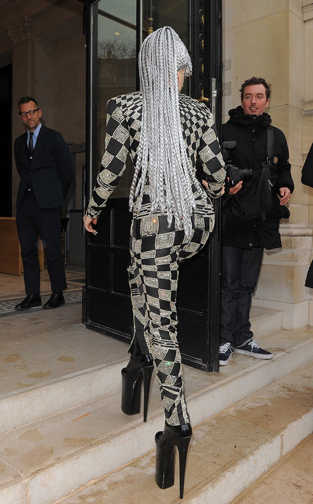 What Lady Gaga Wears to Loiter at the Louvre