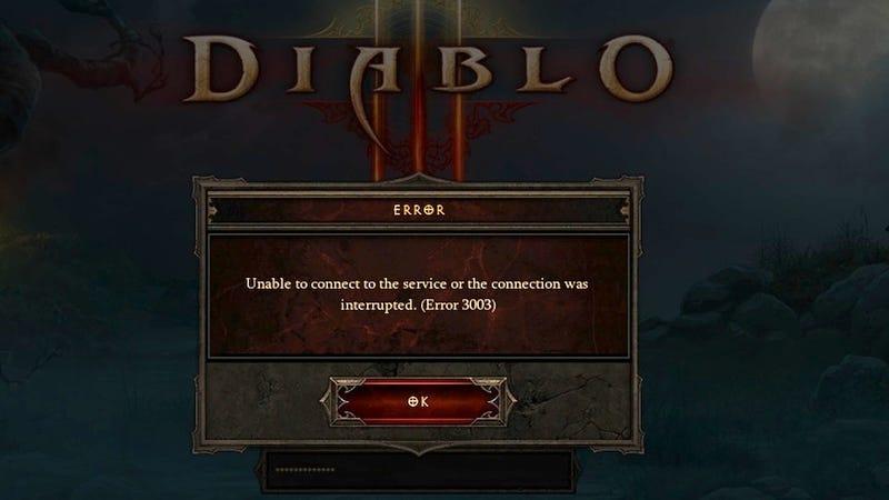 When It Comes to Diablo III, Error 3003 Is The New Error 37