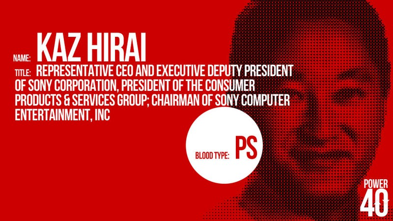 ↑ 05. Kaz Hirai, Sony President and CEO