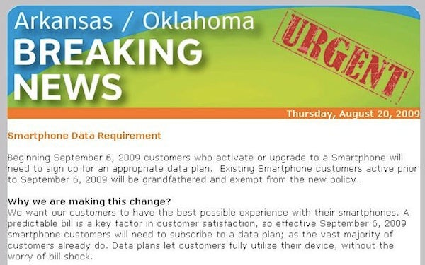 AT&T Forcing Data Plans With All Smartphones Starting Sept. 6