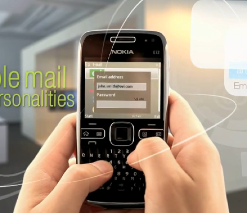 Nokia E72 Featured In 'Leaked' Promotional Video