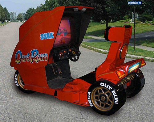 Student Plans to Mod Old OutRun Cabinet Into a Car
