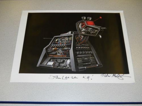 Own a gorgeous signed print of Doctor Who's tin dog, and raise money for heart transplants!
