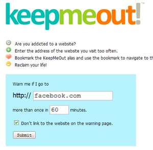 KeepMeOut Reminds You Get Back to Work