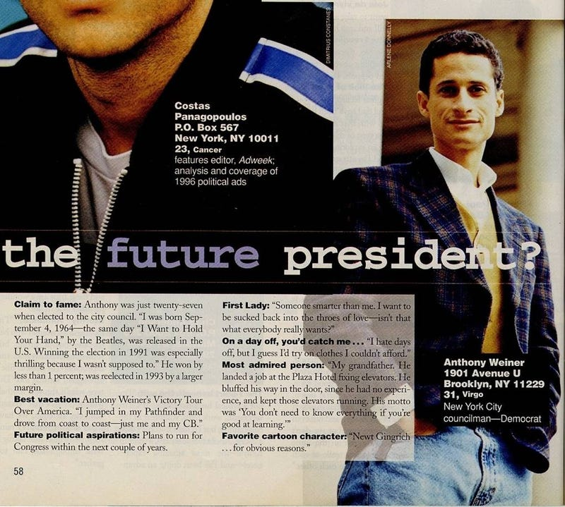 When Anthony Weiner Was In Cosmo