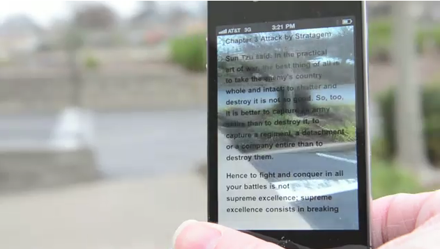 MegaReader: An iPhone Ebook App With Transparent Display Powers