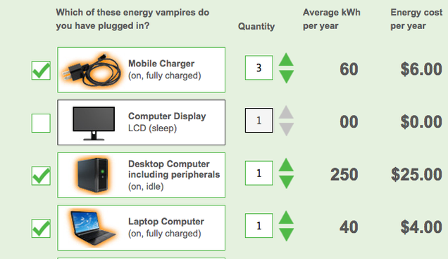 "This Tool Calculates How much You Pay for ""Energy Vampires"""
