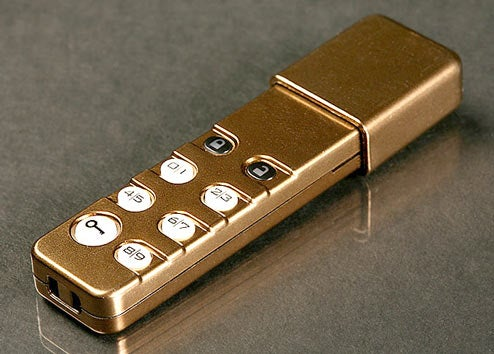Personal Pocket Safe USB Drive So Secure It Has Its Own PIN Pad