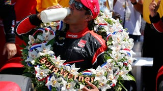 Montoya Drove From The Back To Win A Four-Way Battle For The Indy 500