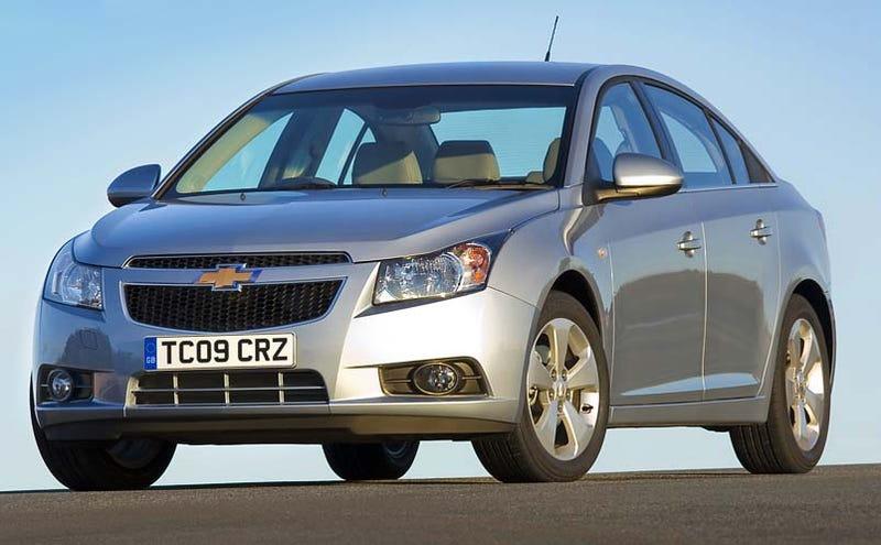 Chevy Cruze UK Pricing To Start At £11,545