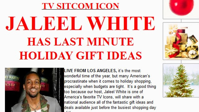 Jaleel White Will Endorse Your Holiday Product for Only $14K