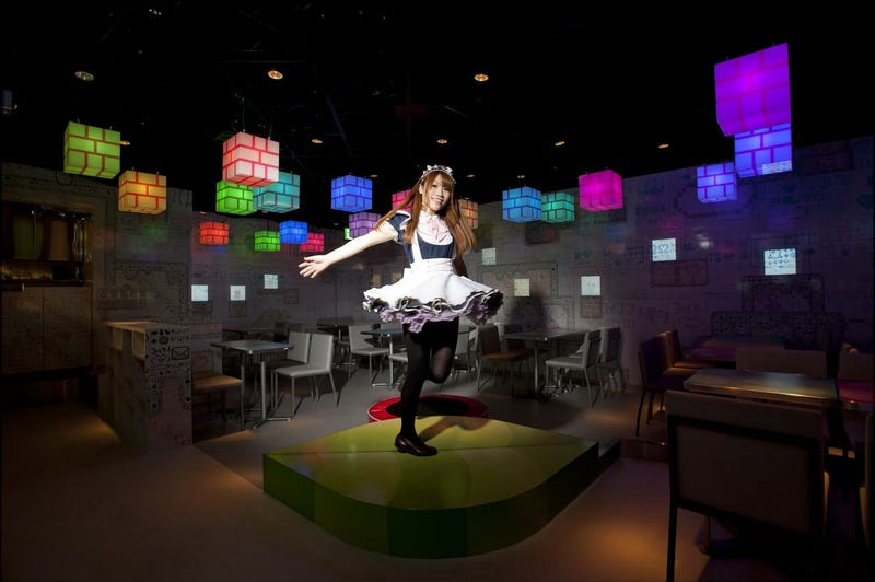 Japanese Maids Busting Nintendo Blocks in This Digital Wonderland