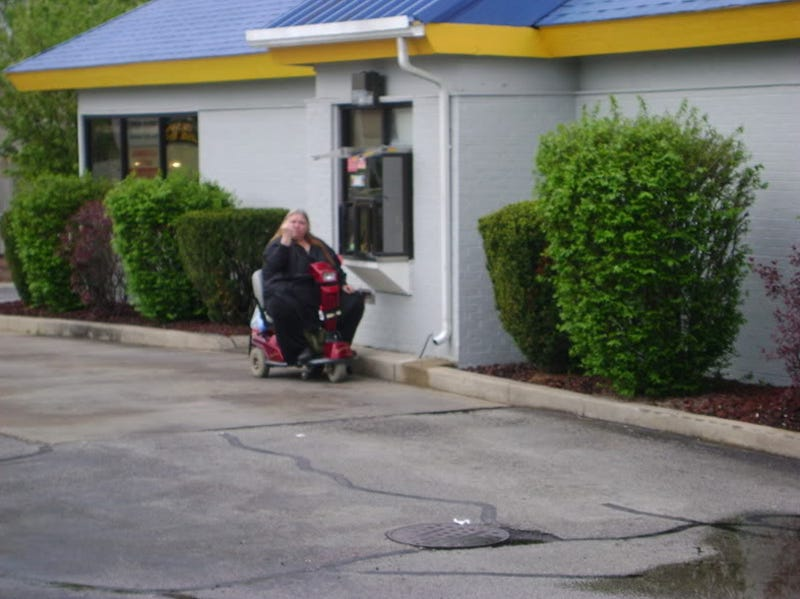 Hoveround-Bound Obese Woman Takes Trip To BK Drive-Thru