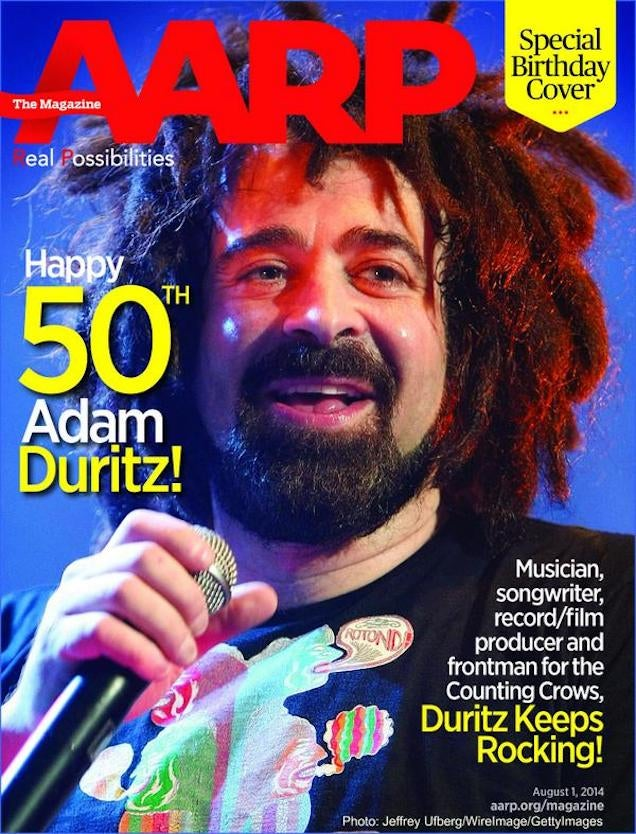 Happy 50th Birthday Adam Duritz, From Gawker and AARP