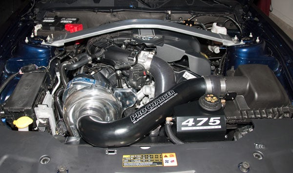 Supercharged 2011 Mustang V6 runs 12-second 1/4 mile