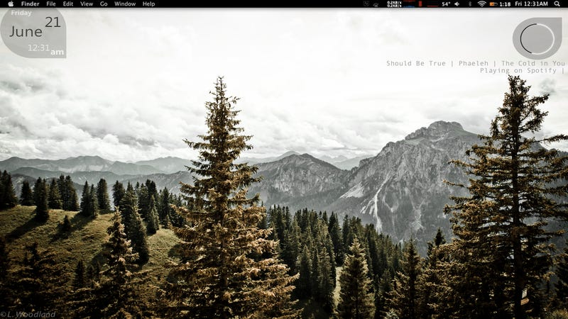 The Wooded Peak Desktop