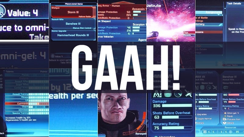 The First Mass Effect's User Interface Sure Was Terrible