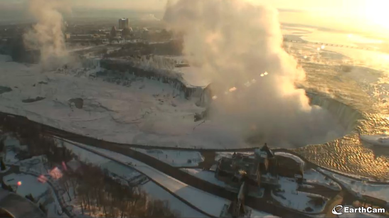 Niagara Falls Isn't Frozen—But It's Getting There, And It's Beautiful