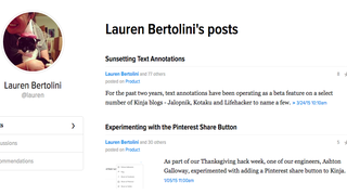 Introducing the profile page