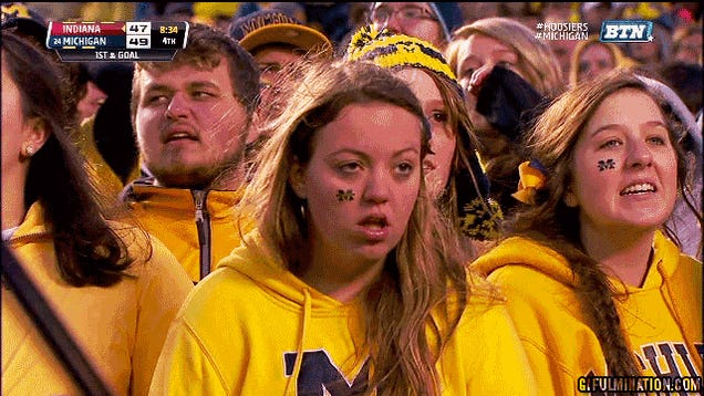 Michigan Fan Is Really Into The Game
