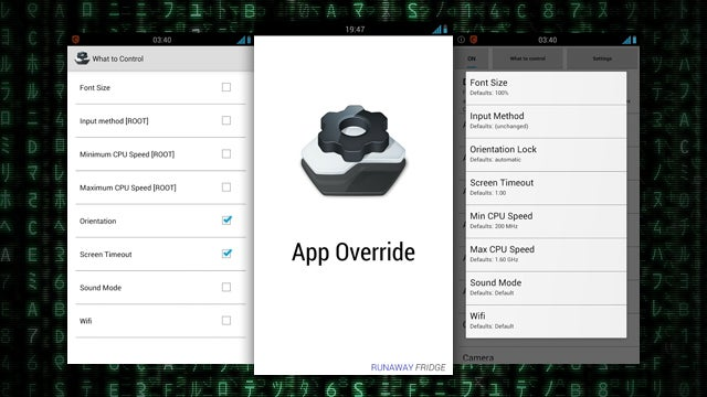 App Override Gives You Personalized Settings for Individual Apps