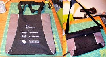 Convert a tote to a messenger bag