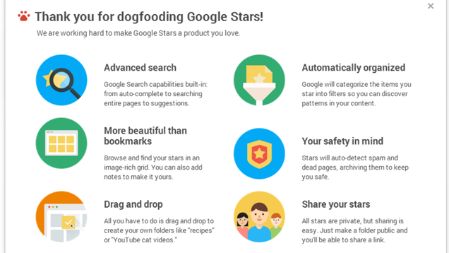 Google Stars Is Now on Chrome, Looks Like an Awesome Bookmarking App