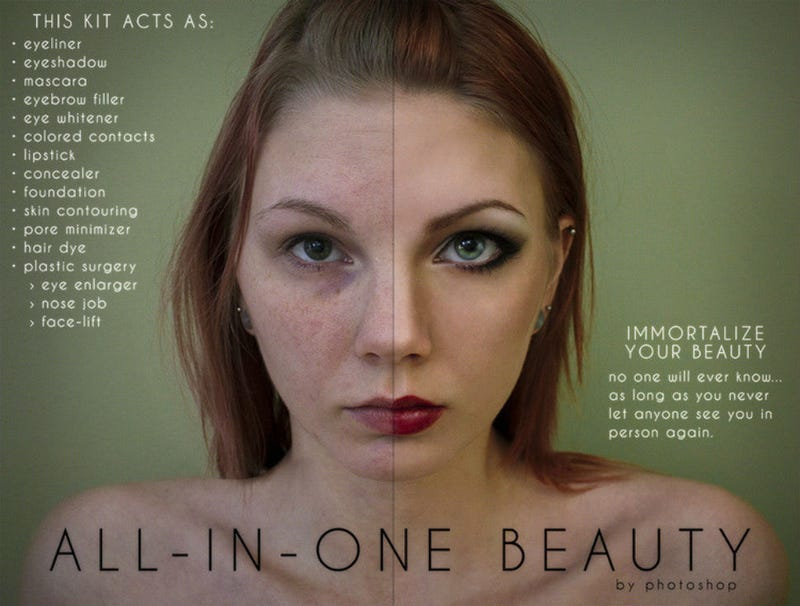 Art Student Parodies Photoshopped Ads To Highlight Ridiculous Extremes